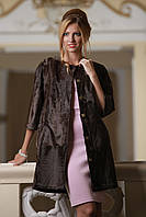 "Пальто из каракульчи цвета ""горький шоколад"" swakarabroadtail jacket coat furcoat, фото 1"
