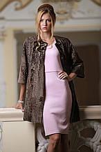 Пальто з каракульчі кольору какао swakara broadtail jacket coat furcoat
