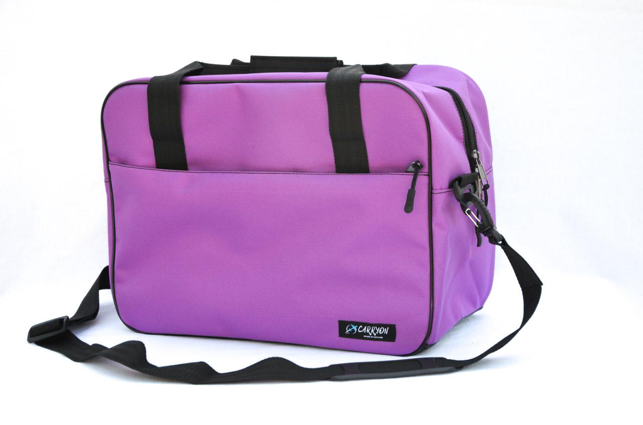 "Сумка для ручной клади ""CARRYON"" под Ryanair и Wizz Air 40 x 30 x 20, фиолетовая"