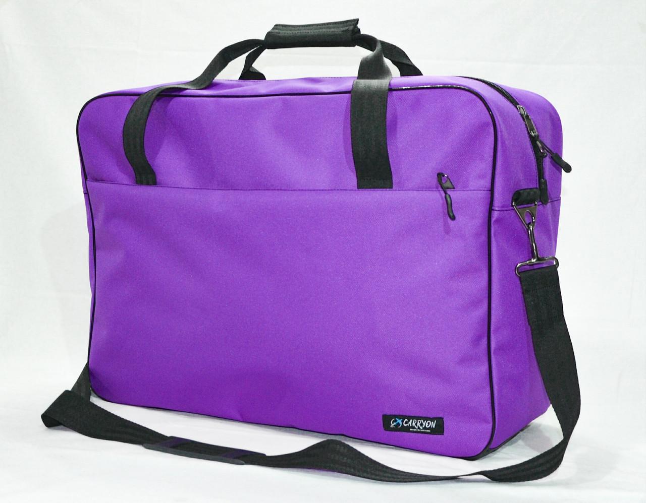 """Сумка для ручной клади """"CARRYON"""" под МАУ 55 x 40 x 20, фиолетовая"""