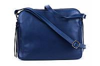 Итальянская женская сумка из натуральной кожи. Цвет: Синий, фото 1