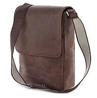 Сумка SHVIGEL 00751 из высококачественной винтажной кожи Коричневая, фото 1