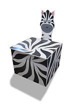 Ящик для игрушек закрытый (с крышкой) Зебра (169.02)