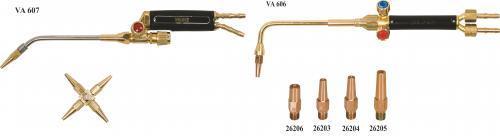 Облегченные сварочные горелки серии VA600 и сопла к ним YILDIZ GAZ