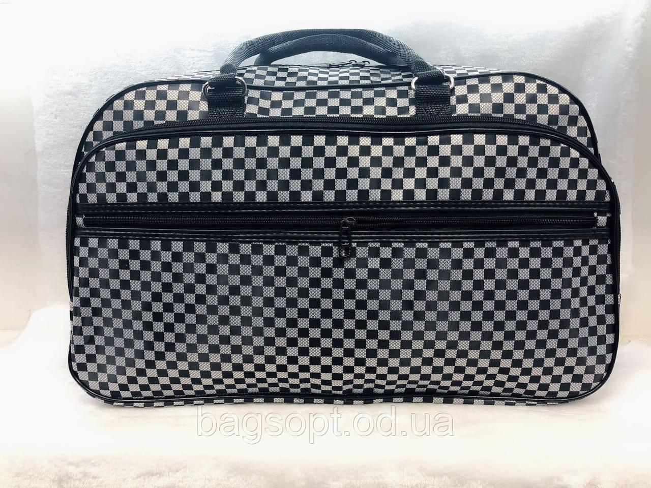 Дорожная сумка унисекс текстильная вместительная серая