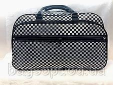Дорожня сумка унісекс текстильна містка сіра