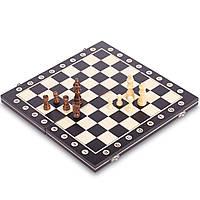 Настільна гра шахи дерев'яні Xinliye 34 x 34 см, Чорний-беж (СПО W8014)