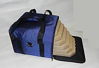 Сумка для доставки пиццы 45х45х30 синяя, фото 1