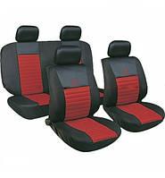 Чехлы авто сидений комплект черно-красные Tango 24016/7 Milex Польша
