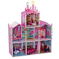 Трехэтажныйкукольный домик Bellina 66926с куклами и мебелью