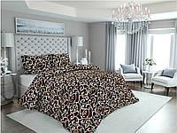 Комплект постельного белья Полуторный(150х205) Вензеля на коричневом Бязь от Brettani