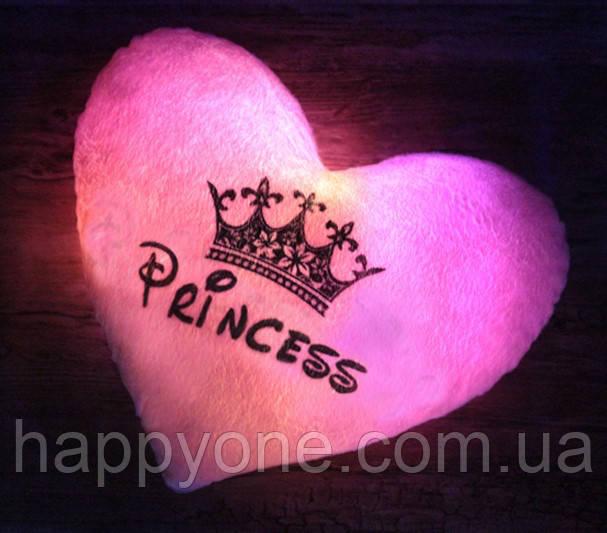 """Светящаяся подушка """"Princess"""" (розовая)"""