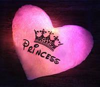 """Светящаяся подушка """"Princess"""" (розовая), фото 1"""