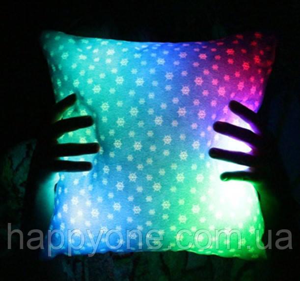 "Светящаяся подушка ""Снежинки"""