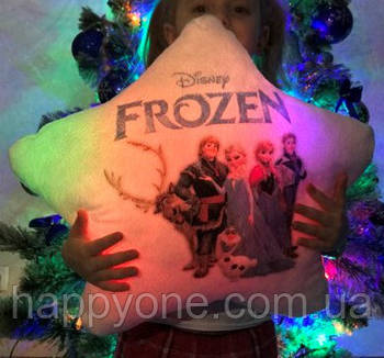 """Светящаяся подушка звездочка """"Frozen"""""""