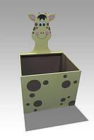 """Дитячий ящик для іграшок відкритий """"Жираф"""""""