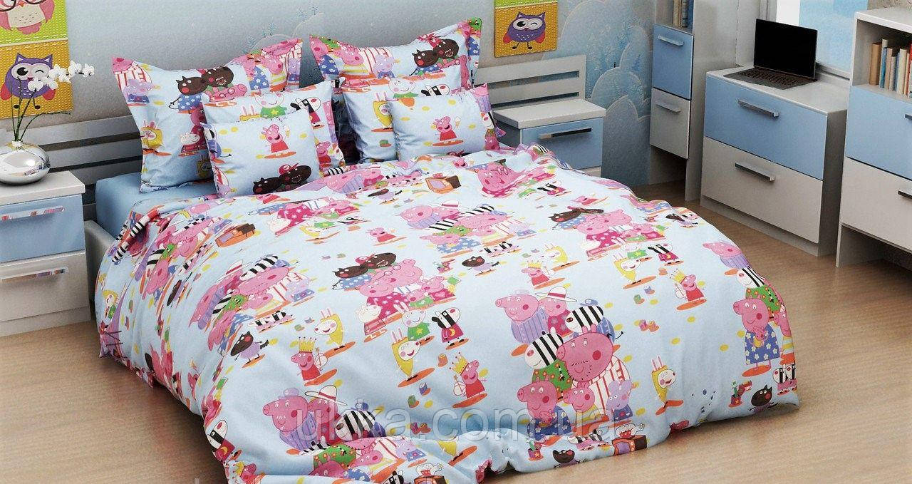 Детское постельное белье полуторное Пепа комплект подростковый