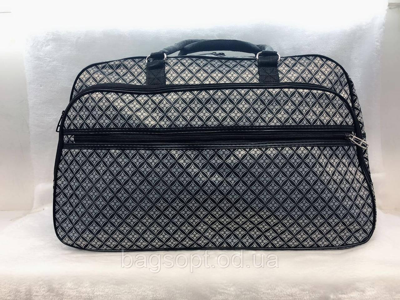 Дорожная женская сумка-саквояж текстильная вместительная для путешествий