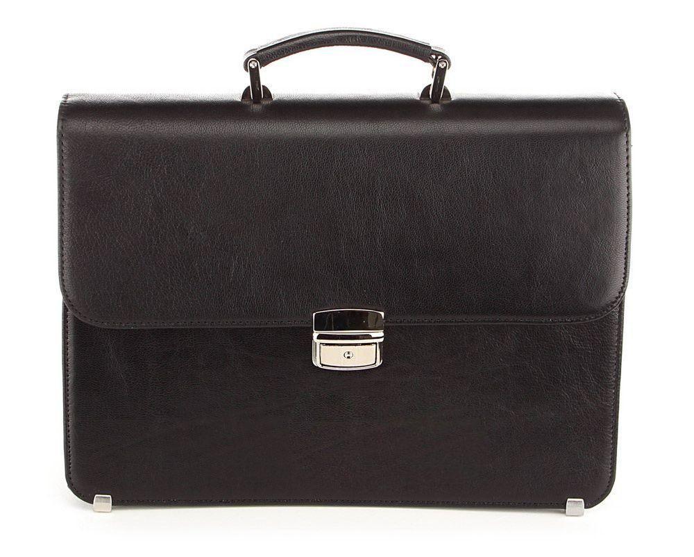 Портфель SHVIGEL 00367 из натуральной кожи Черный