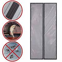 Дверная антимоскитная сетка на магнитах 100 х 210 см (в целлофане, Magic Mesh)