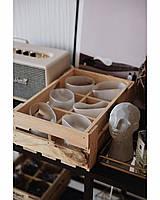 Набор пьяных стаканов для виски белые 260 мл  6шт ND224