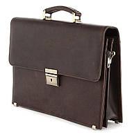 Портфель SHVIGEL 00752 из винтажной кожи Коричневый, Коричневый, фото 1