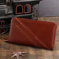 Мужской клатч Vintage 14197 кожаный Коричневый, Коричневый, фото 1