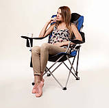 "Кресло складное ""Директор"" d19 мм (синий), фото 2"