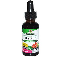 """Барбарис Nature's Answer """"Barberry"""" с низким содержанием спирта, 2000 мг (30 мл)"""