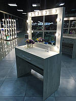 Визажный стол, для визажиста, зеркало с подсветкой с тумбой 1650х1000х450