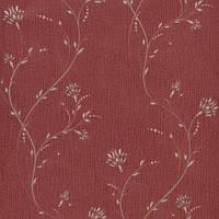 Обои бумажные акриловые (пенообои) а  0,53*10,05 цветы Слобожанские  бордовый