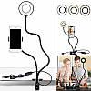 Держатель для телефона с LED подсветкой кольцо на прищепке для прямых трансляций. Live streaming, селфи кольцо, фото 5