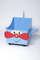 """Дитячий ящик для іграшок відкритий """"Літачок"""" (з колесами)"""