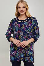 Ошатна жіноча блуза з трикотажу масло 58