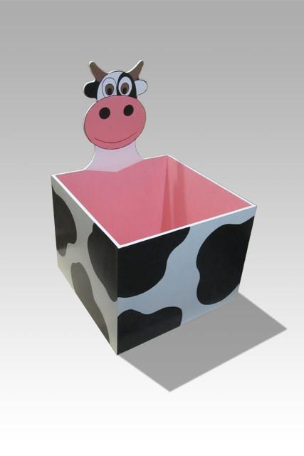 """Дитячий ящик для іграшок відкритий """"Корівка"""""""