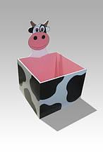 Ящик для игрушек открытый (без крышки) Коровка (170.04)