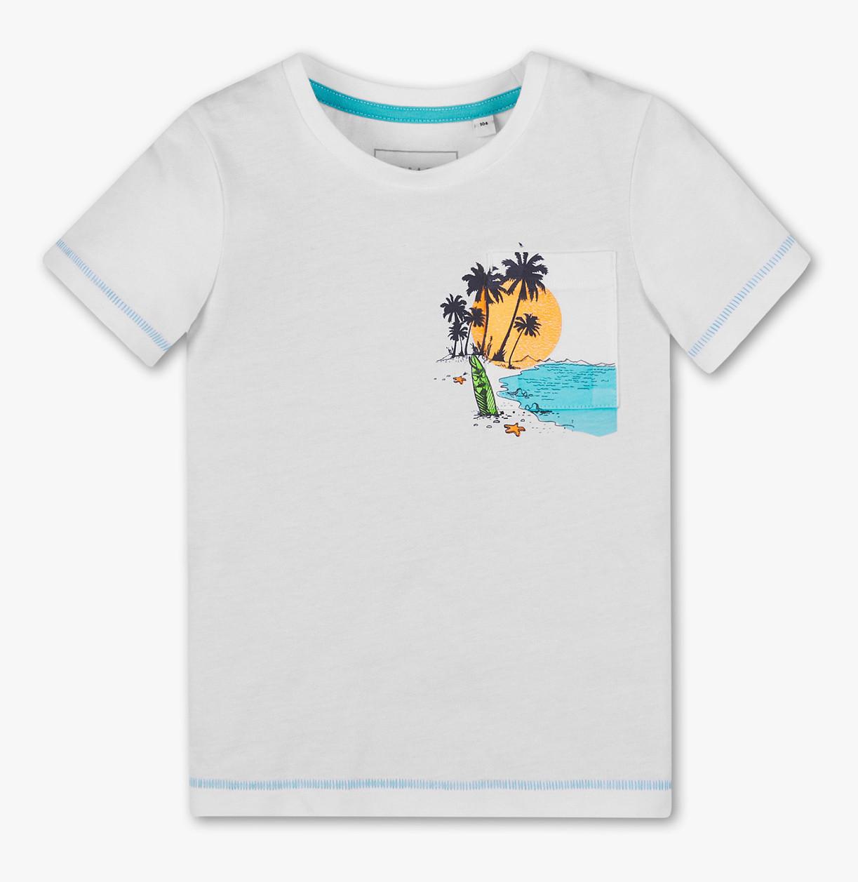 Біла футболка для хлопчика з кишенею C&A Німеччина Розмір 140