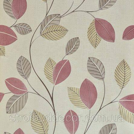 Обои бумажные акриловые (пенообои) а  0,53*10,05 листья  Слобожанские