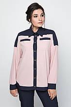 Ділова жіноча блуза з софту 52