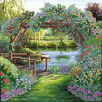 Цветочная арка. АбрисАрт. Схема на ткани для вышивания бисером