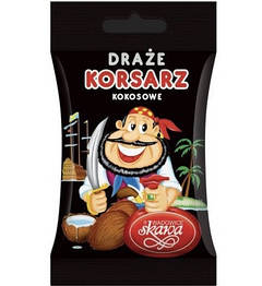 Конфеты драже Wadowice Skawa Korsarz draze kokosowe 70g