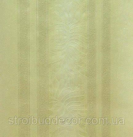 Обои бумажные акриловые (пенообои) а  0,53*10,05 полоса с узором Слобожанские оливка