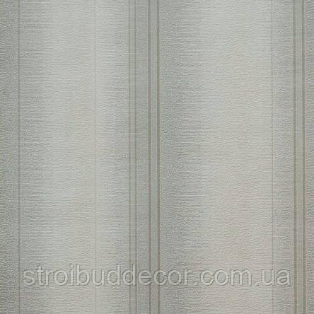 Обои бумажные акриловые (пенообои) а  0,53*10,05 полосатые Слобожанские серые