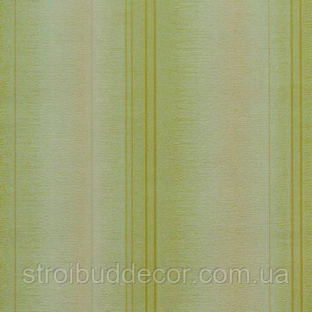 Обои бумажные акриловые (пенообои) а  0,53*10,05 полосатые Слобожанские зеленый