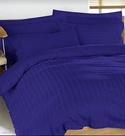 Комплект постельного белья СТРАЙП-САТИН синий электрик