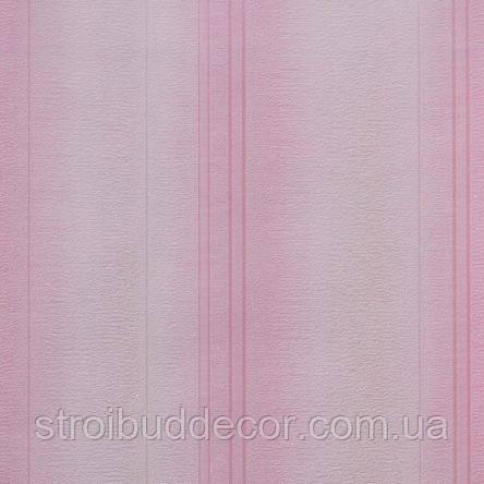 Обои бумажные акриловые (пенообои) а  0,53*10,05 полосатые Слобожанские розовый
