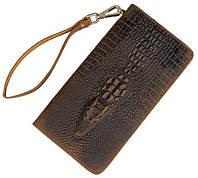 Мужской клатч Vintage 14366 кожа под крокодила Коричневый, фото 1