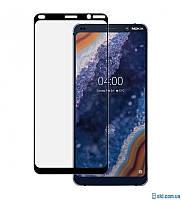 Защитное стекло для Nokia 9 DS TA-1094/TA-1082/TA-1087 НОКИЯ клеится по всей поверхности черное Full Glue