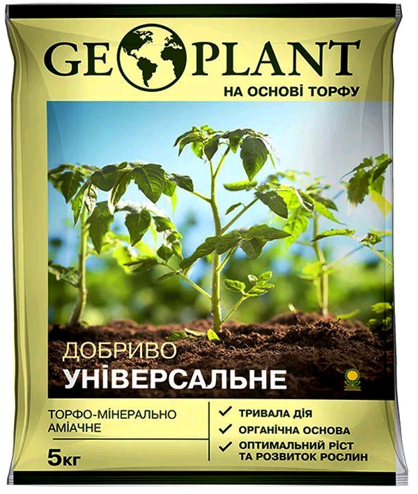 Торфоминеральноаммиачное удобрение Геоплант (Geoplant), 5 л