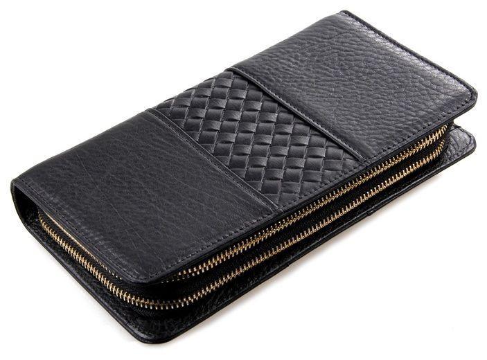 Мужской клатч Vintage 14396 кожаный Черный